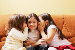 Three little tattlers Royalty Free Stock Photography