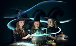 Three little witches Royalty Free Stock Images