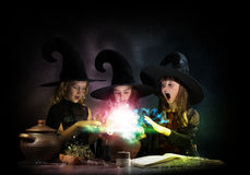 Three little witches Royalty Free Stock Photos