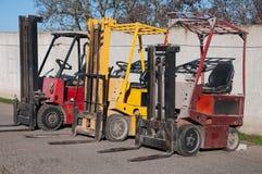 Three loaders. Royalty Free Stock Image
