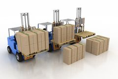 Three loaders with cargo and without cargo Stock Photography