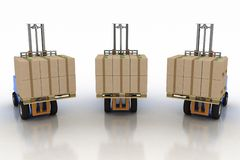 Three loaders with cargo Royalty Free Stock Images