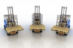 Three loaders without cargo Stock Photos