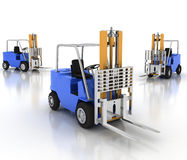 Three loaders without cargo Stock Photography