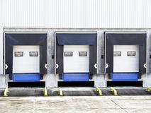 Three loading gates Stock Photo
