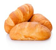 Three loaf of bread isolated on white background. Three loaf of bread isolated on a white background stock image