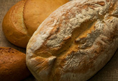 Three loaves of bread. Composition of three loaves of bread Stock Photography