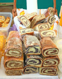 Three Local Variants Of Nut Roll In Croatia Royalty Free Stock Image