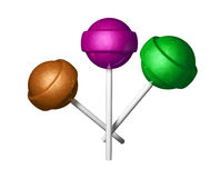 Three Lollipops Royalty Free Stock Photography