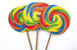 Three lollipops. On white background Royalty Free Stock Photos