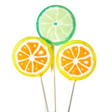 Three lollipops Stock Photography
