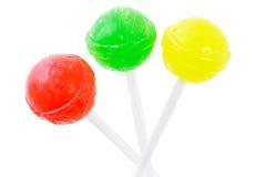 Three lollipops royalty free stock photo
