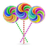 Three lollipops Royalty Free Stock Images
