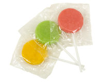 Three Lollipops in Covers Stock Images