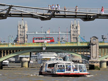 Three London Bridges Royalty Free Stock Photos