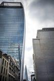 Three London skyscrapers Stock Photos