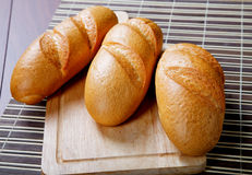 Three long loafs still-life Royalty Free Stock Photos