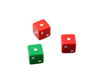 Three losing dices Stock Photography