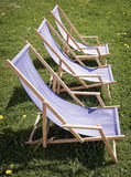 Three lounge chairs Royalty Free Stock Photography