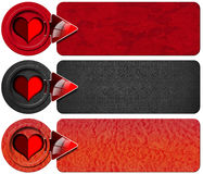 Three Love Banners Royalty Free Stock Image
