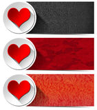 Three Love Banners Stock Photo