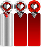 Three Love Banners Royalty Free Stock Photography