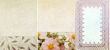 Three lovely background textures Royalty Free Stock Photo