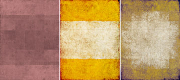 Three lovely background textures Royalty Free Stock Images