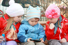 Three lovely kids Stock Photography