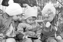 Three lovely kids Stock Images