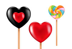Three lovely lollipops. Vector Royalty Free Stock Photo