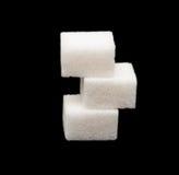 Three lumps of sugar Royalty Free Stock Photo