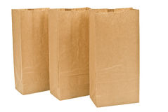 Three Lunch Bags In A Row Royalty Free Stock Photography