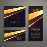 three luxury banners card design set Stock Image