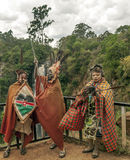 Three Maasai with his face painted Stock Photo