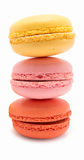 Three macarons Stock Images