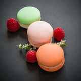 Three macaroons Royalty Free Stock Photo