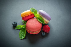 Three macaroons Stock Photos