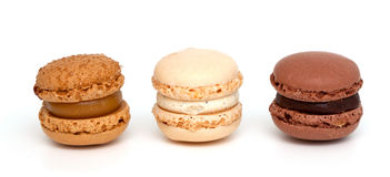 Three macaroons Stock Photography
