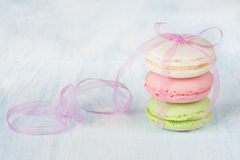 Three macaroons Royalty Free Stock Photography
