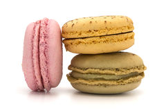 Three macaroons Royalty Free Stock Images