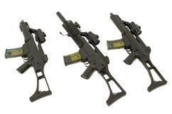 Three machine guns Stock Photos