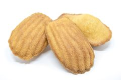 Three Madeleine cakes stock photography