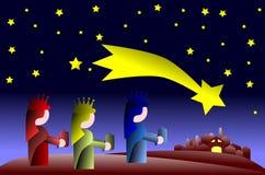 The three magi colorful illustration stylized Royalty Free Stock Images