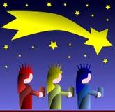 The three magi colorful illustration Royalty Free Stock Photography