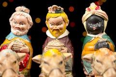 The Three Magi. Nativity scene. Christmas traditions. Stock Photos