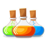 Three magic chemical portions Stock Photography