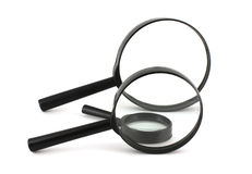 Three magnifiers Royalty Free Stock Images