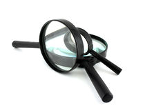 Three magnifiers Stock Images