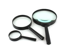 Three magnifiers Stock Photography
